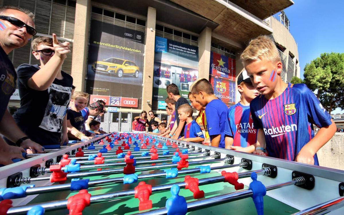 Toda una fiesta familiar en el Camp Nou para el Gamper