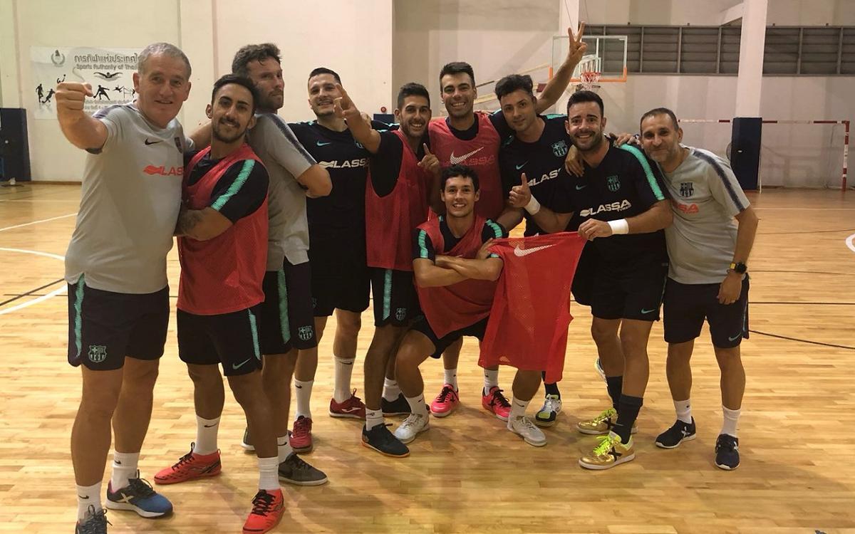 El Barça Lassa ya entrena en Bangkok