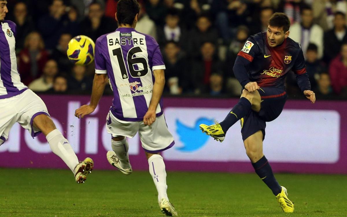 Messi's goals in Valladolid