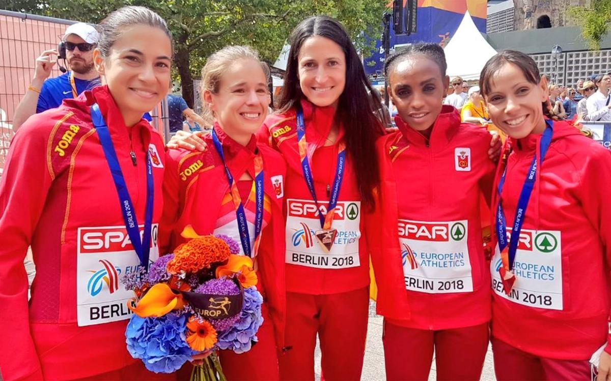 Els relleus i la marató les dues medalles blaugranes a l'Europeu de Berlín