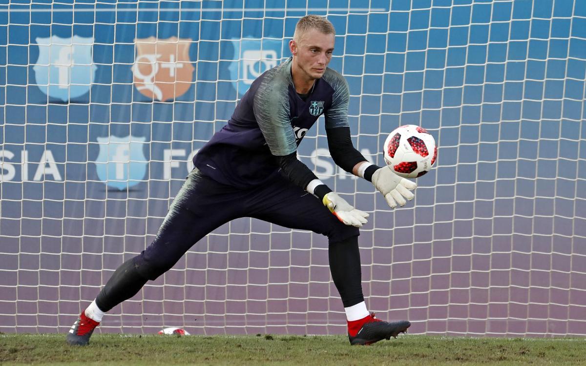 Jasper Cillessen, baja para el partido contra el Valladolid