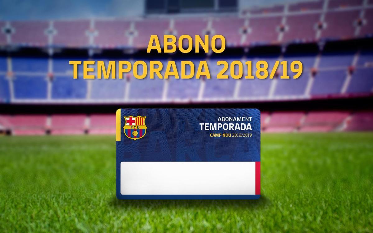 Renovación de los abonos para la temporada 2018/19
