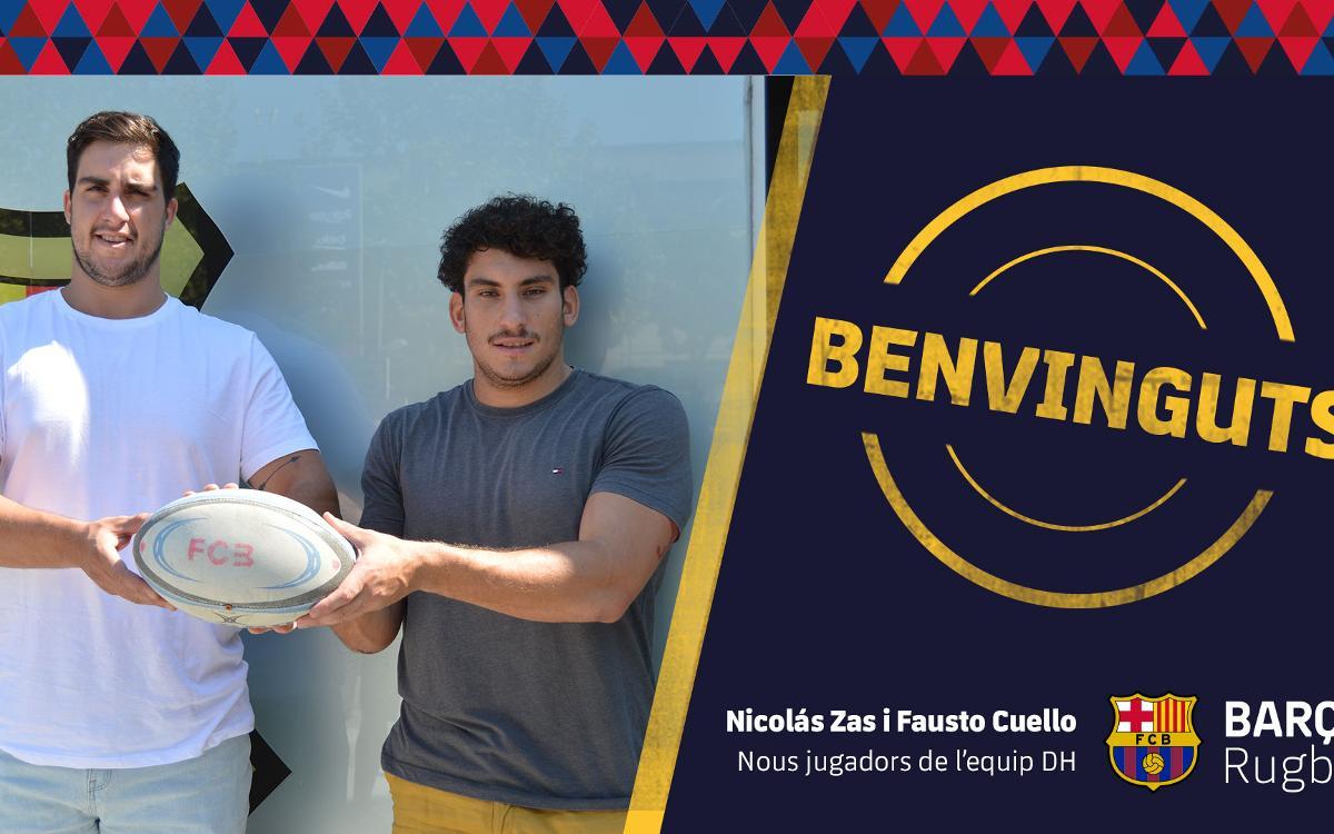 Nicolás Zas i Fausto Cuello les dues primeres incorporacions