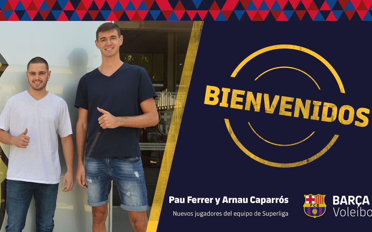 Pau Ferrer y Arnau Caparrós se incorporan al equipo de Superliga