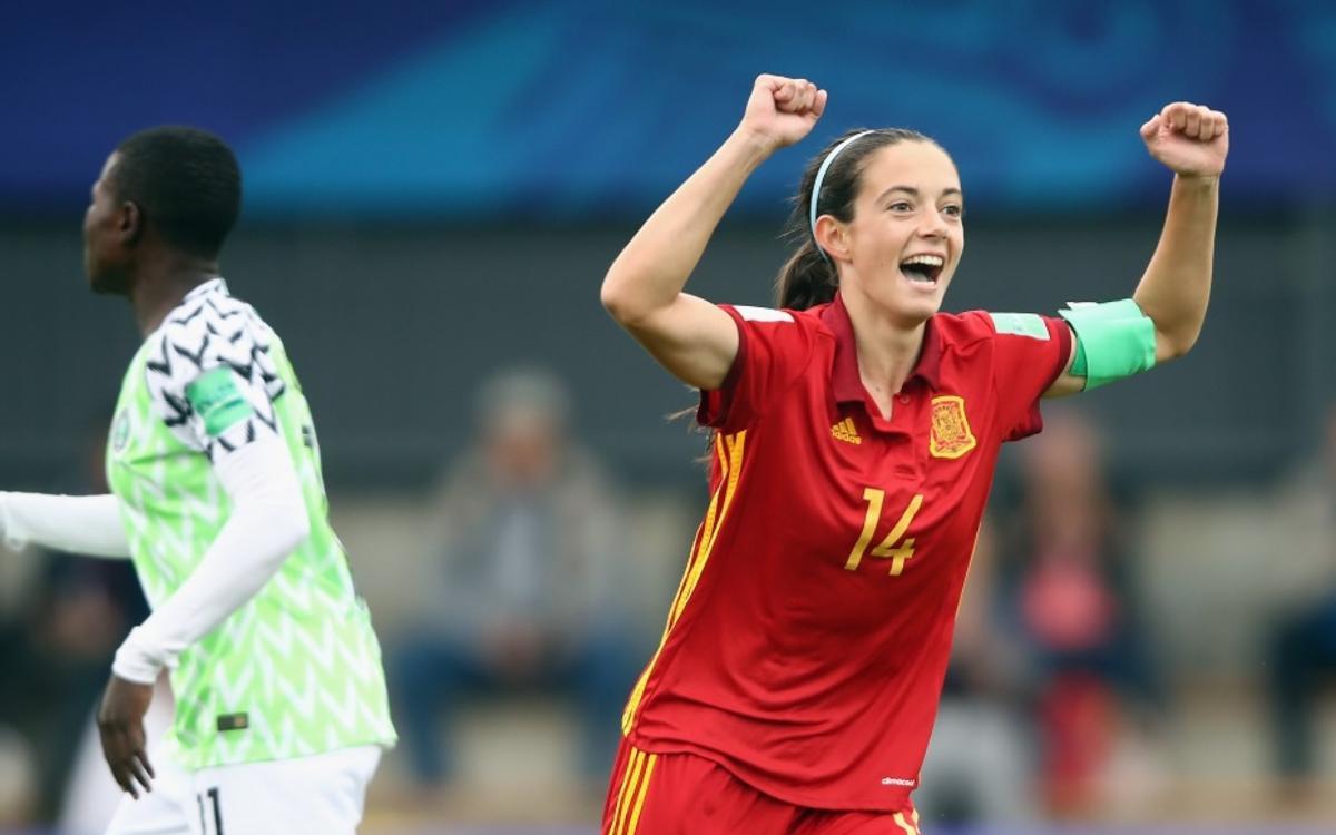 Espanya sub-20 fa història amb els gols d'Aitana i Patri