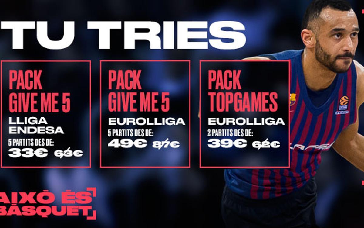 Entrades i packs disponibles per veure el Barça Lassa 2018/19
