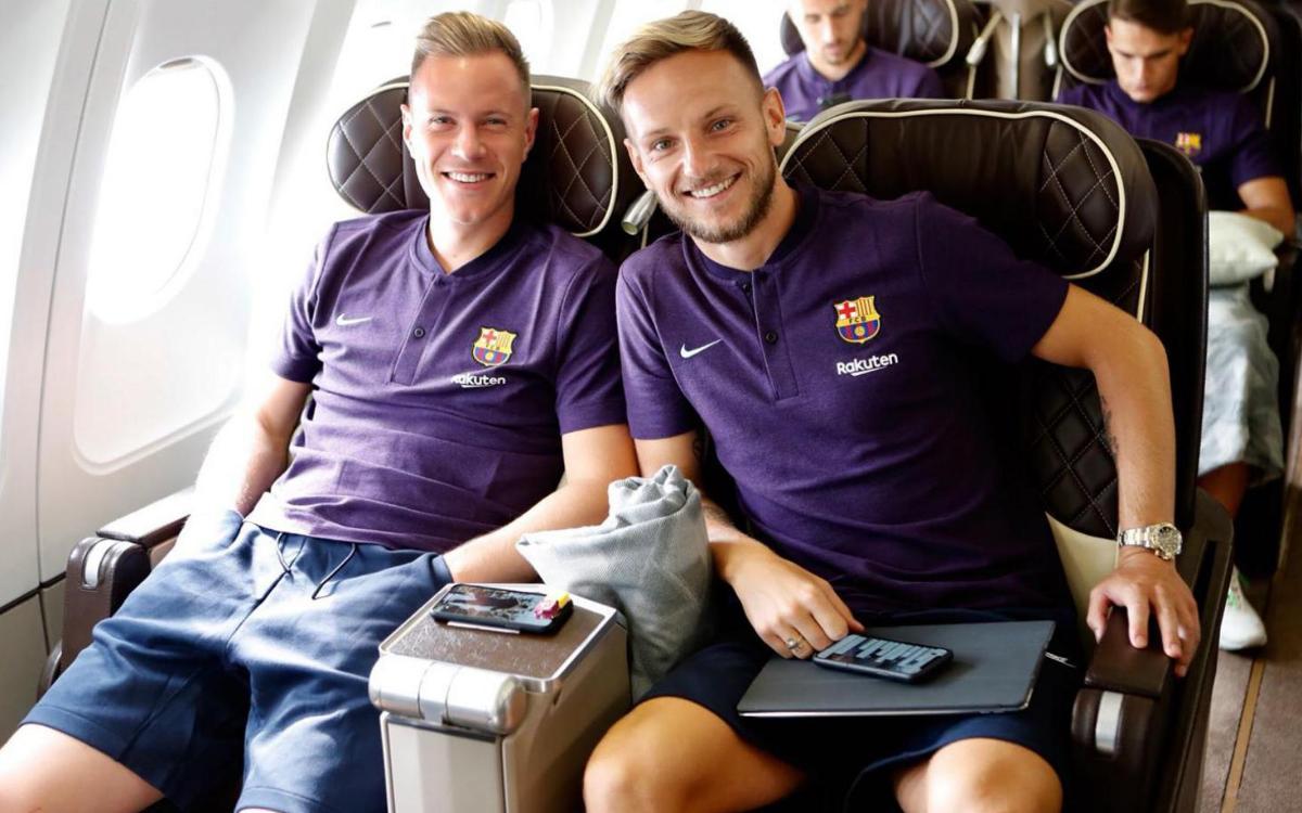 Así ha sido el viaje del FC Barcelona a Tánger