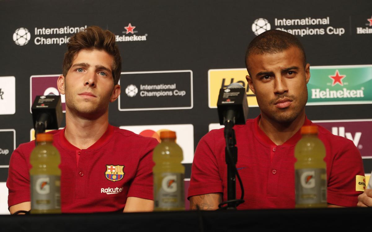 Sergi Roberto and Rafinha say preseason is all about getting in shape
