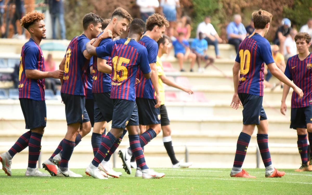 Juvenil A - Lleida Esportiu: Tres puntos en el estreno en casa (2-0)
