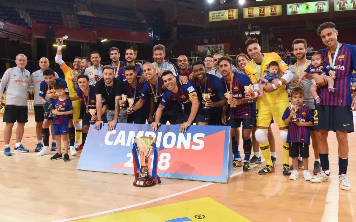 El Barça Lassa aixeca la desena Copa Catalunya de la seva història