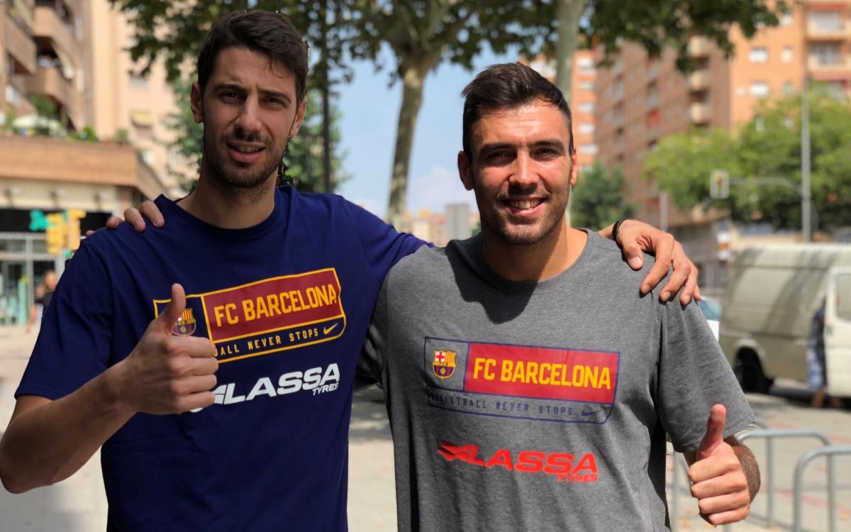 Ante Tomic i Pierre Oriola, nous capitans del Barça Lassa de bàsquet