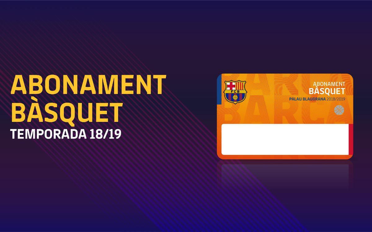 Procés de sol·licitud d'abonaments de bàsquet per al Palau Blaugrana