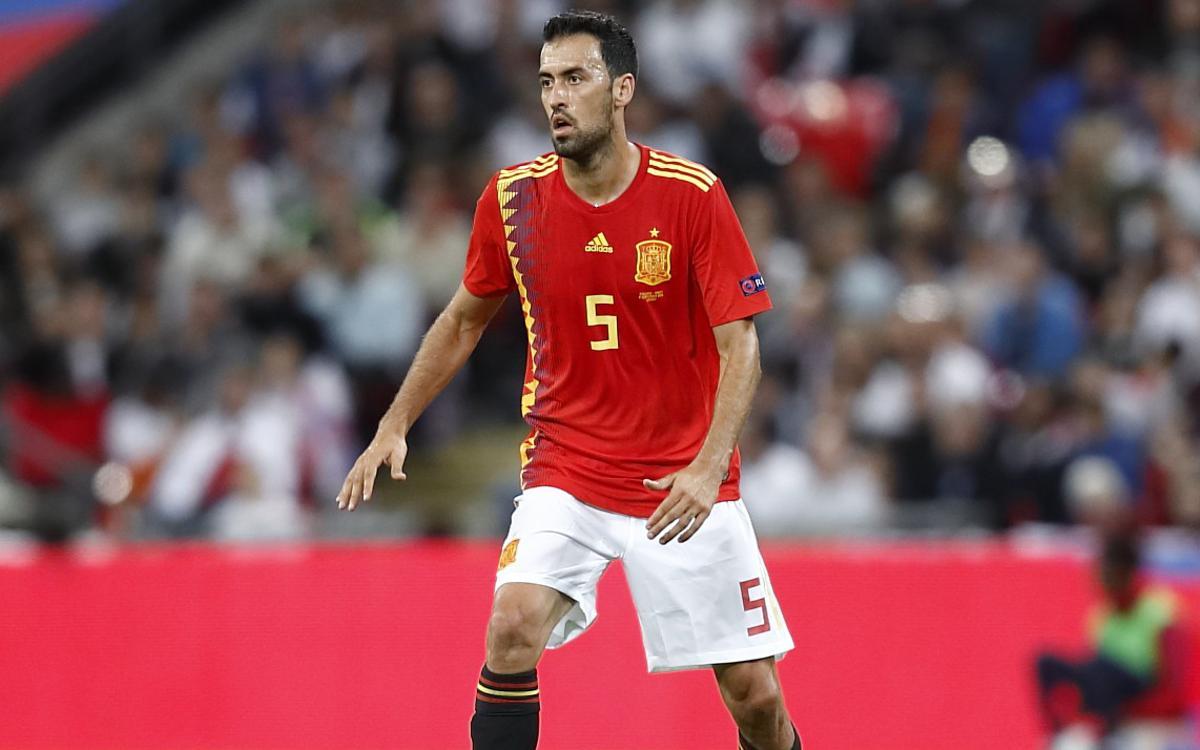 Sergio Busquets i Sergi Roberto participen en el triomf de la selecció espanyola a Wembley