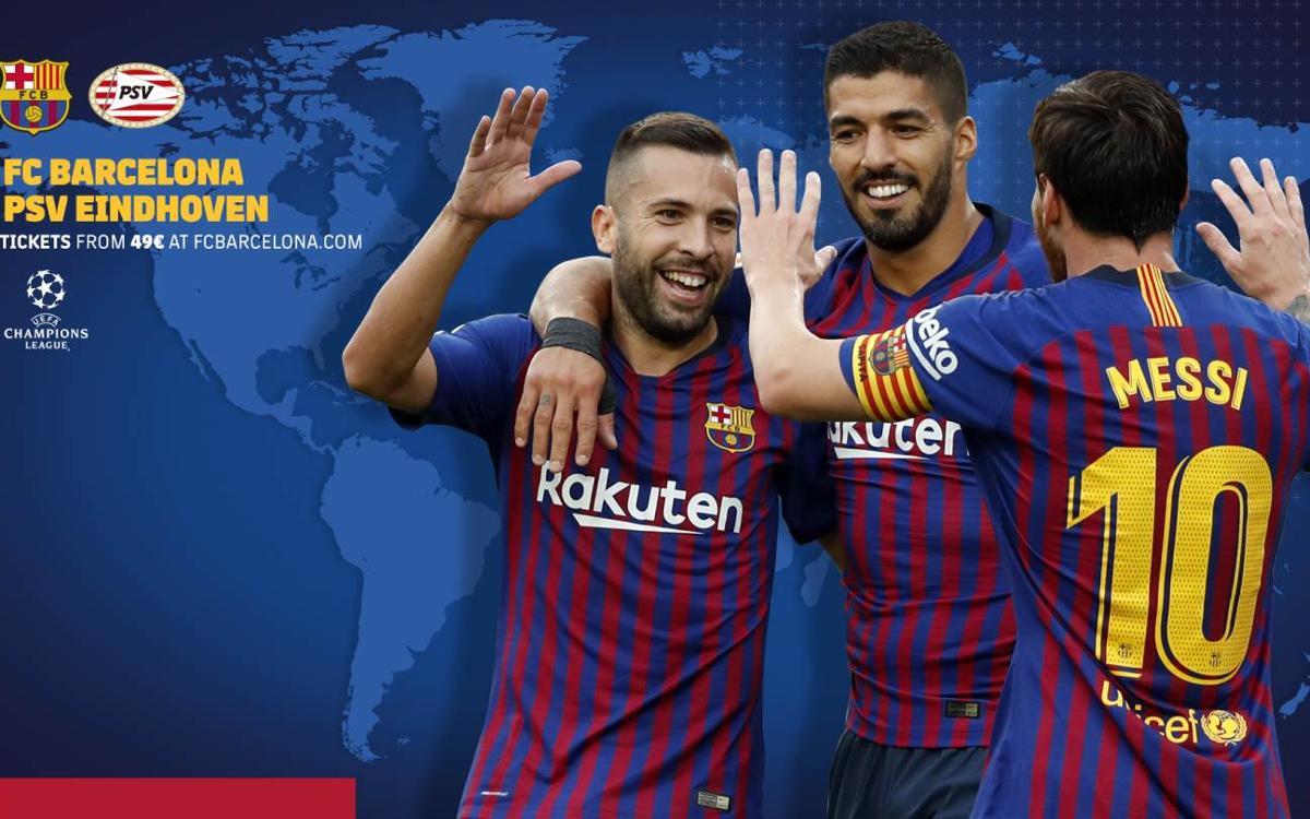 Cuándo y dónde ver el FC Barcelona - PSV Eindhoven