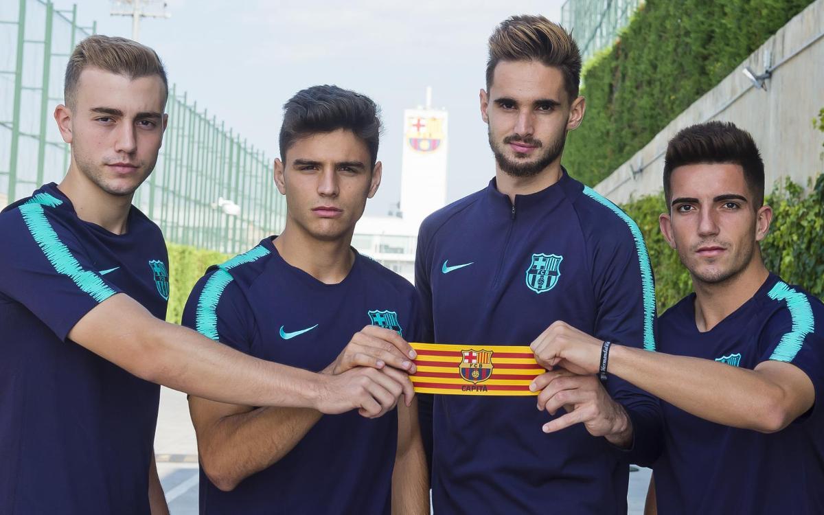Sarsanedas, Jokin Ezkieta, O. Busquets y Monchu, nuevos capitanes del Barça B 2018/19