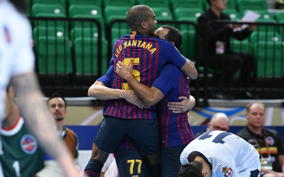 Barça Lassa - Elite Futsal: Triunfo contundente en el debut (8-0)