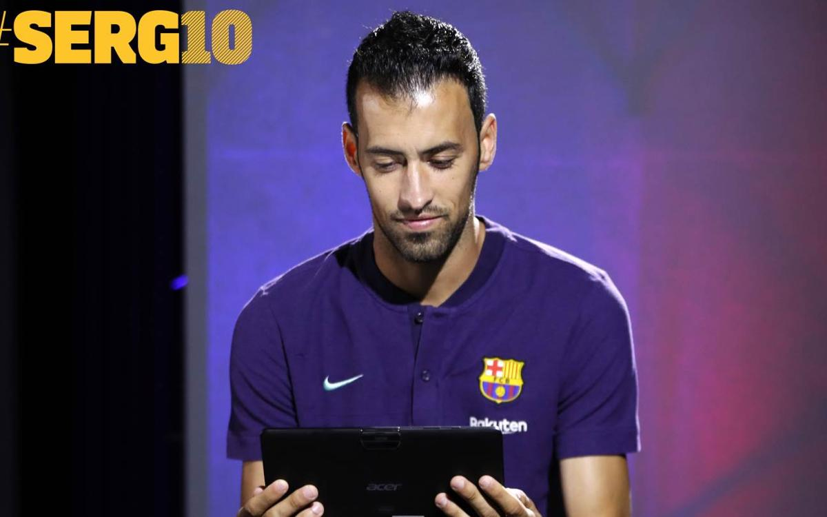 Busquets tested on 10 years at Barça