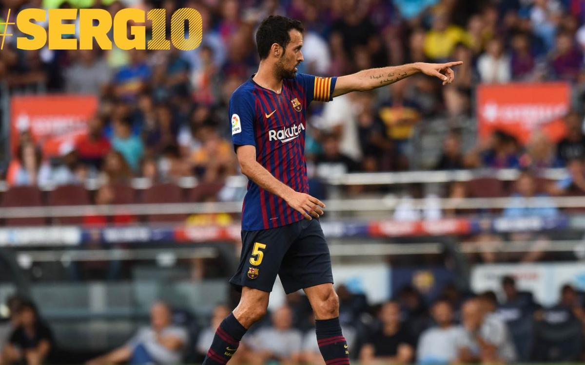 Sergio Busquets: 'I never would have imagined winning so many titles'