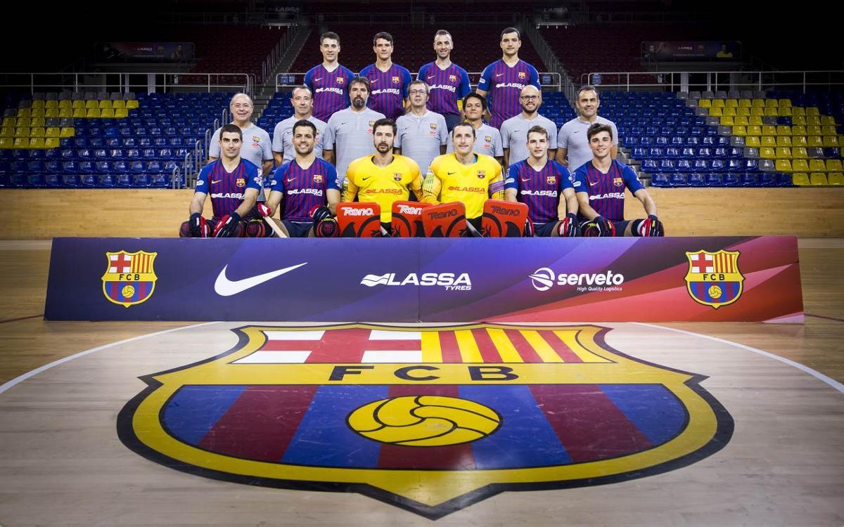 El Barça Lassa es fa la fotografia d'equip abans d'afrontar tres títols en tres setmanes