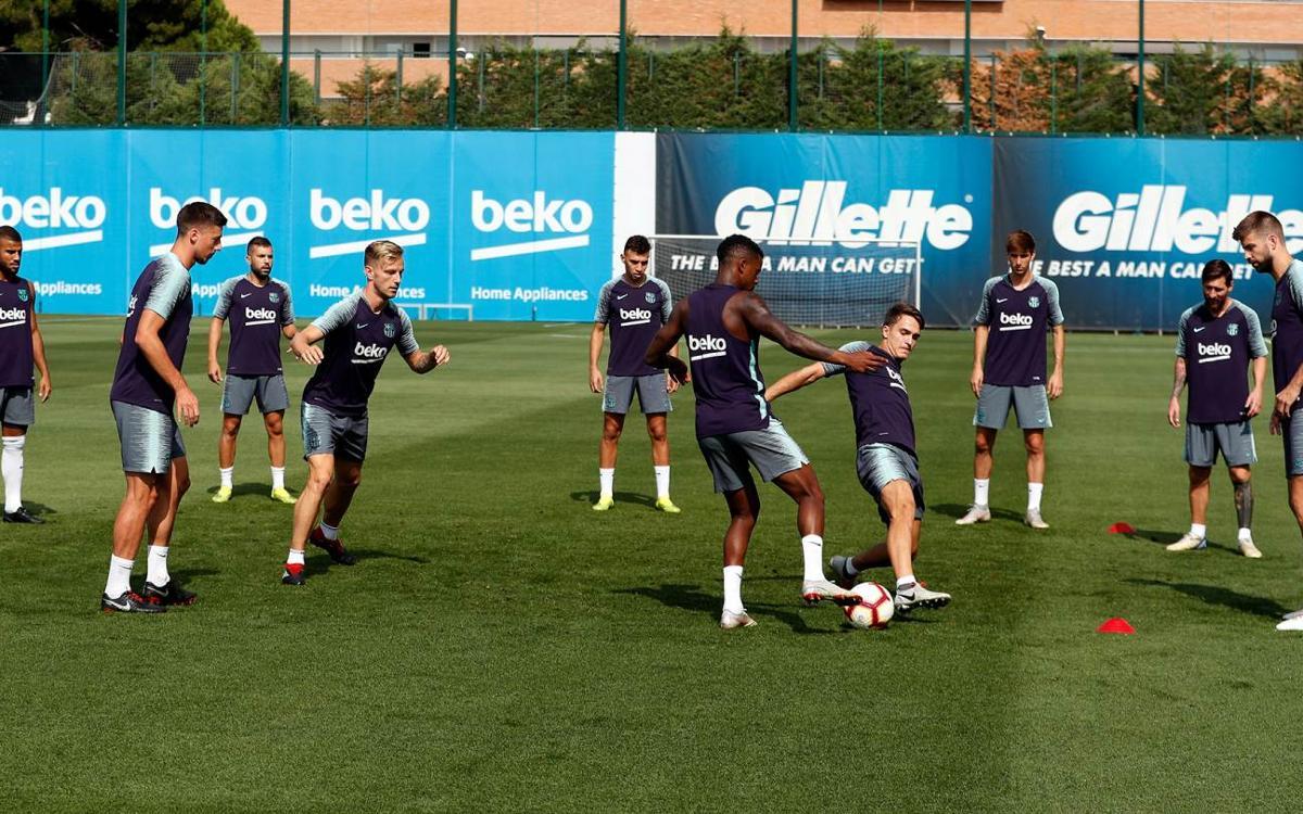 Entrenament en família a la Ciutat Esportiva Joan Gamper