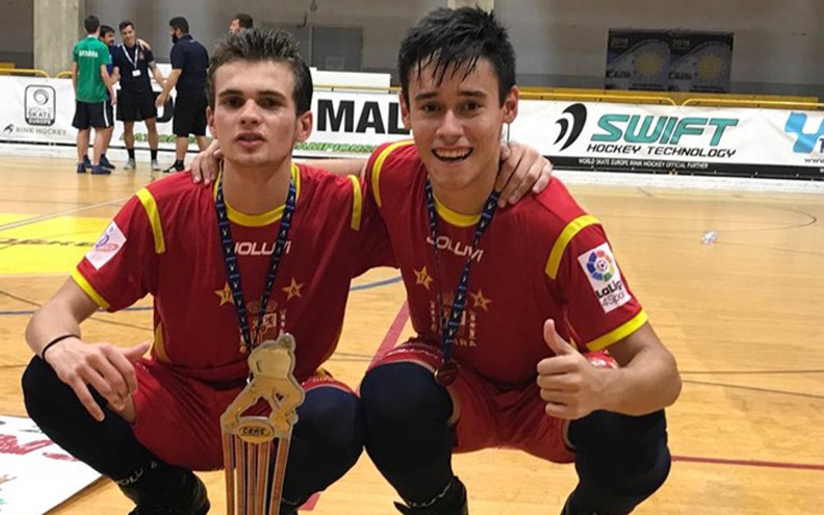 Dos azulgranas campeones de Europa U17 de Hockey Patines
