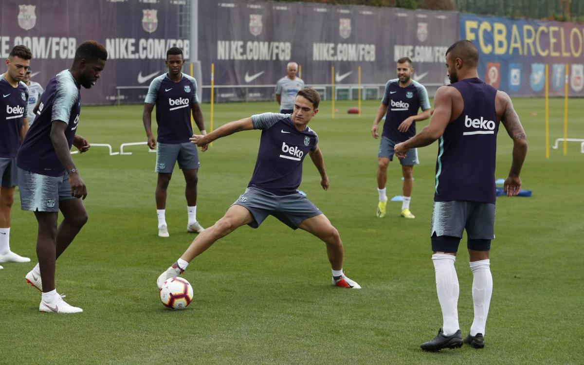Second session of the week to prepare for the league match at Anoeta