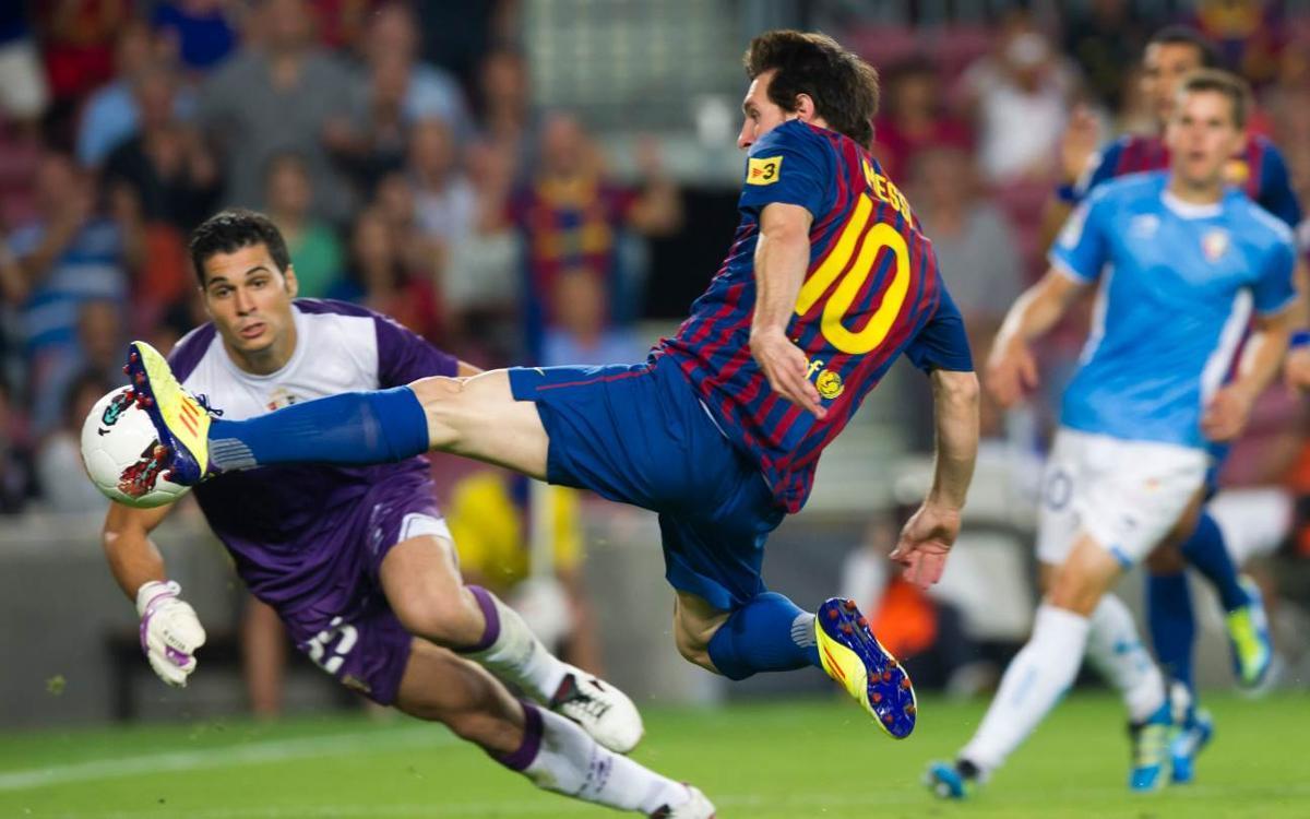 Revive la última vez que el Barça marcó ocho goles en la Liga en el Camp Nou