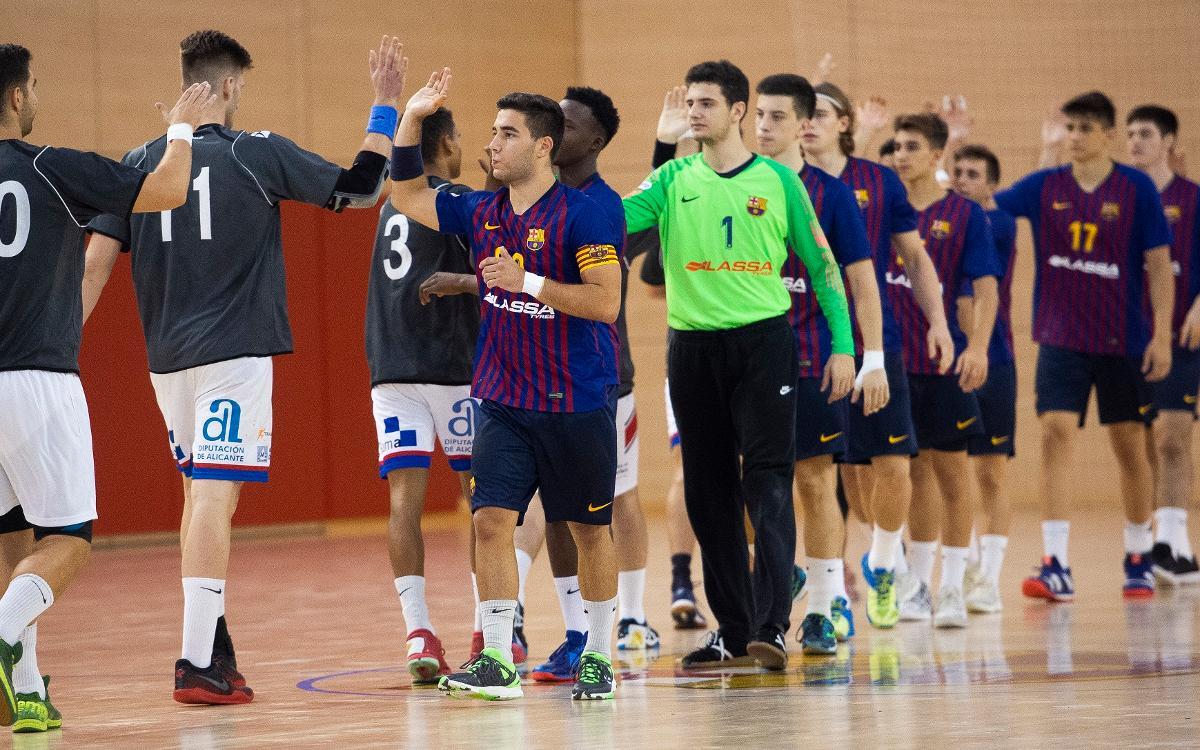 Barça Lassa B - Agustinos (31-29): Inicio con triunfo azulgrana