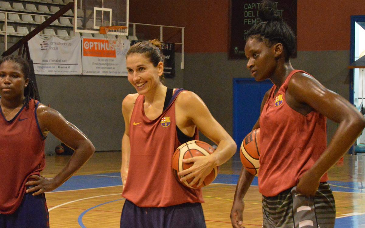 El Bàsquet Femení d'Isaac Fernández comença a treballar
