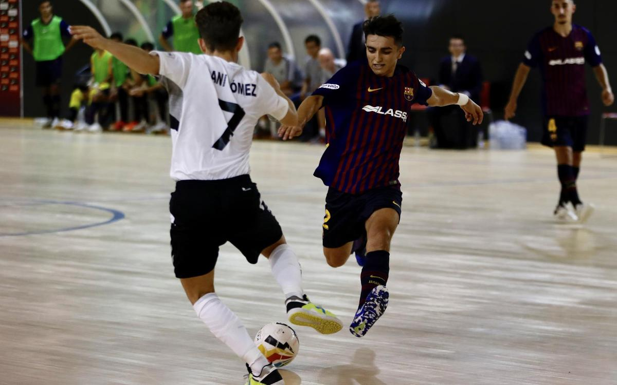 Barça Lassa B - Rivas Futsal (2-3): Derrota en el primer partido en casa