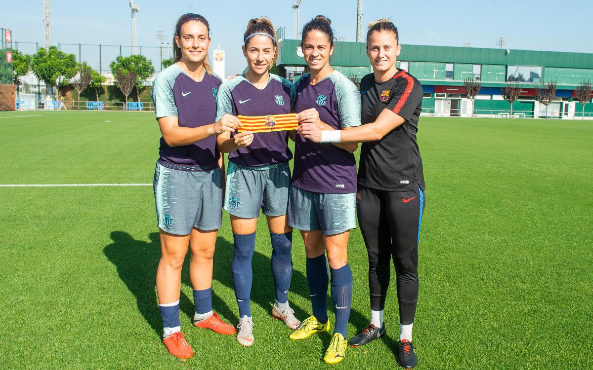 Las capitanas del Barça Femenino 2018/19, definidas