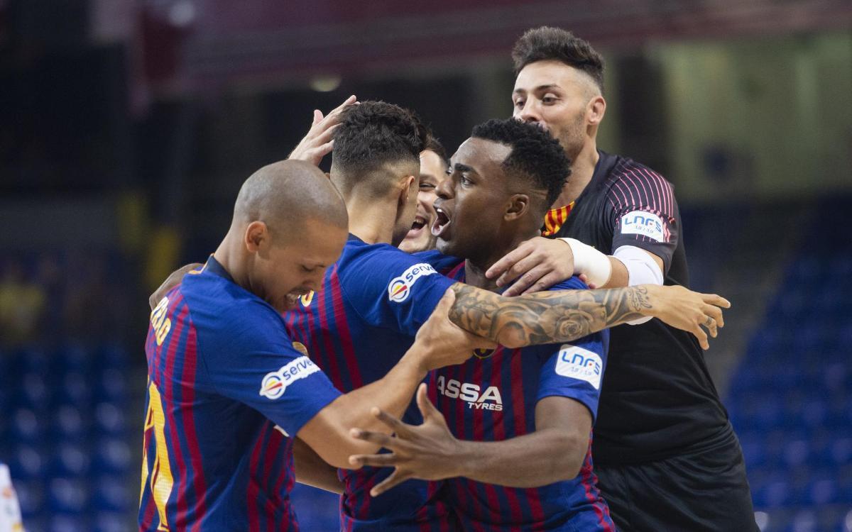 Barça Lassa – Fútbol Emotion Saragossa: Huracà blaugrana i liderat (6-3)