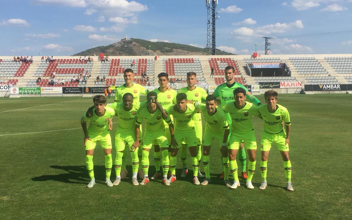 U.B. Conquense - FC Barcelona B: Hat-trick de Rafa Mujica para sumar la segunda victoria de la temporada (0-3)