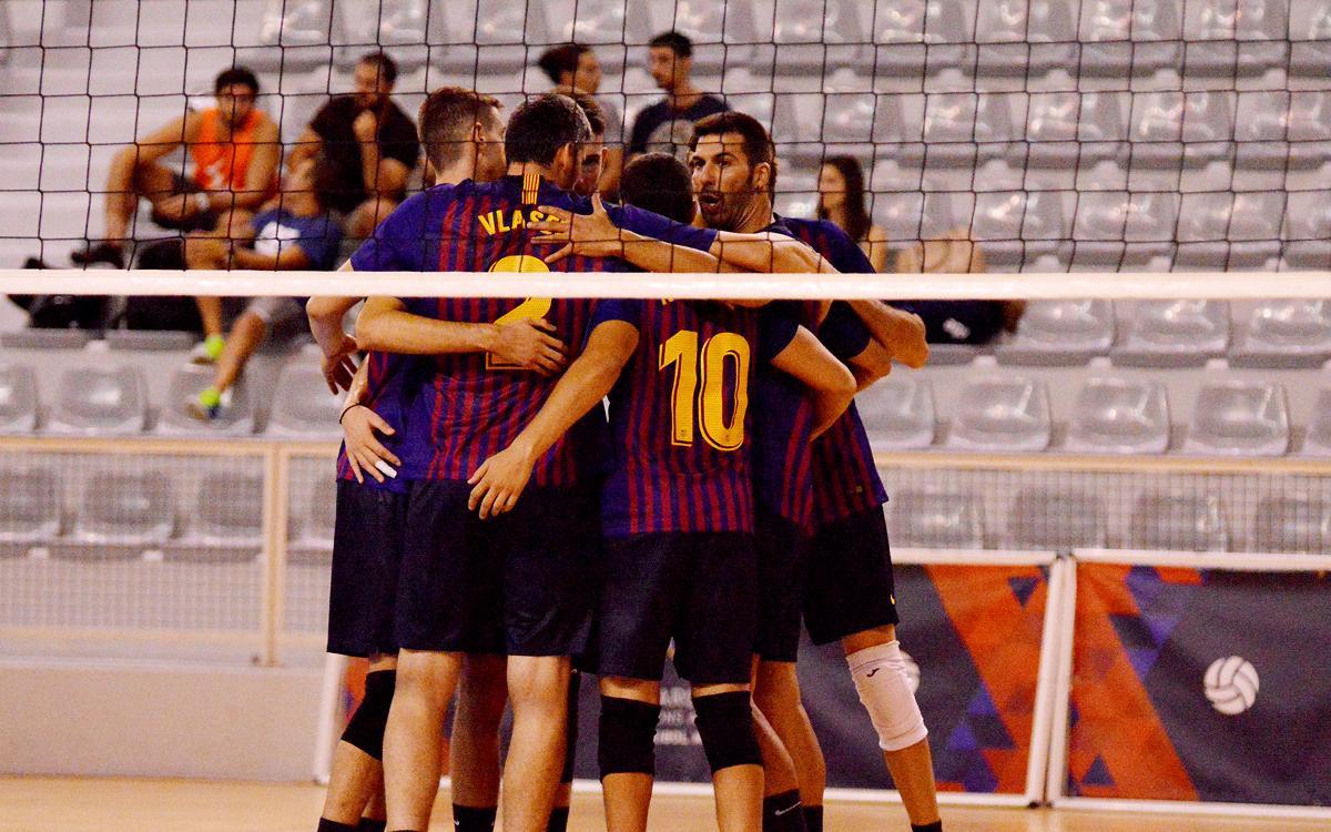 El Barça de Voleibol suma la primera victoria de la temporada