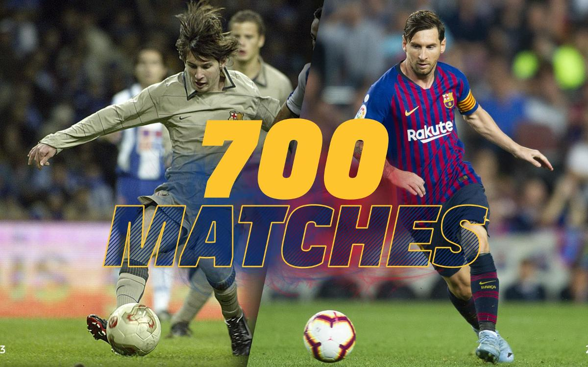 Leo Messi reaches 700 games as a Barça player
