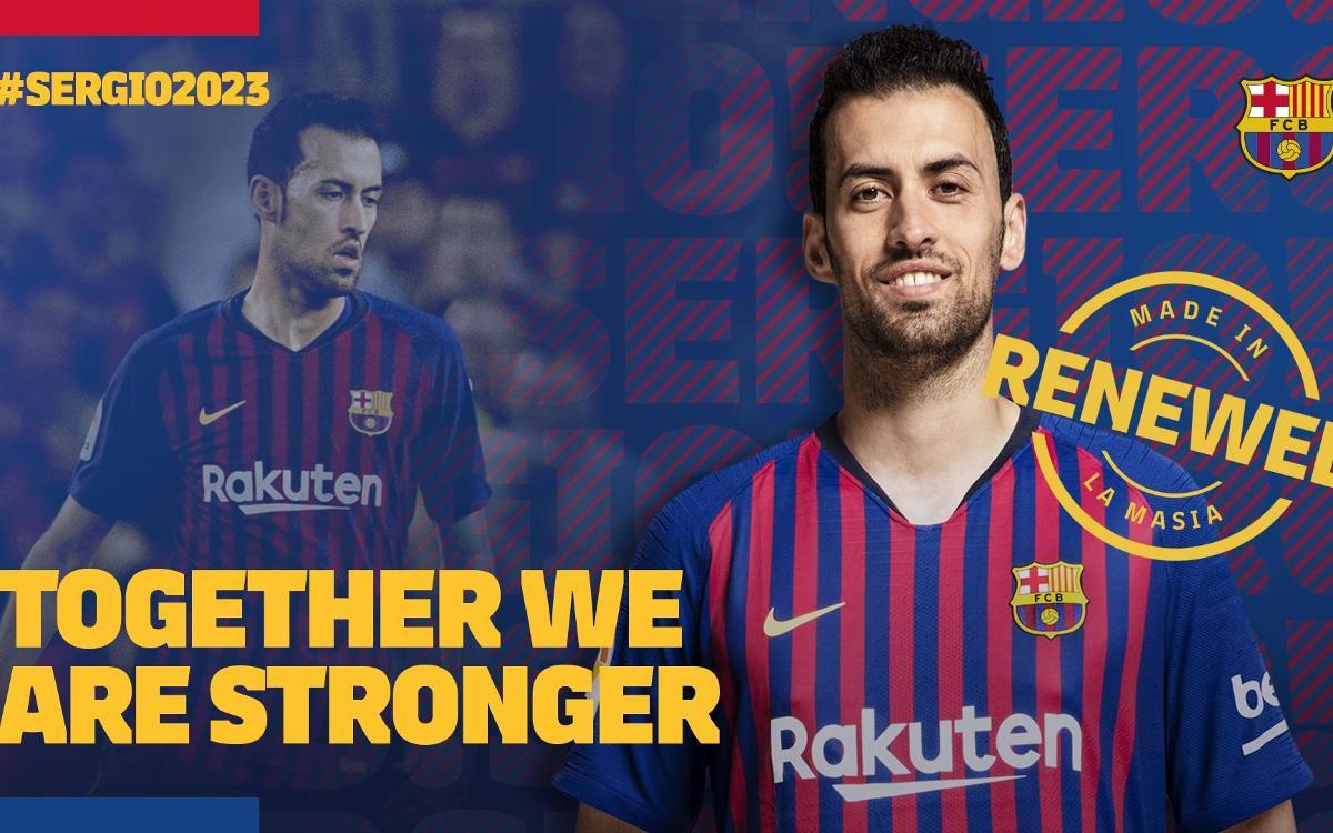 Accord de prolongation de contrat entre le FC Barcelone et Sergio Busquets