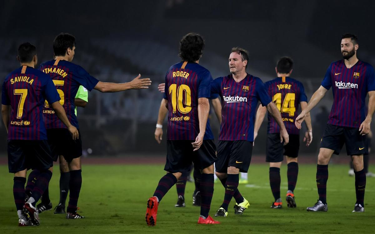 Barça Legends - Mohun Bagan AC: Victoria clara de los Barça Legends en Calcuta (6-0)