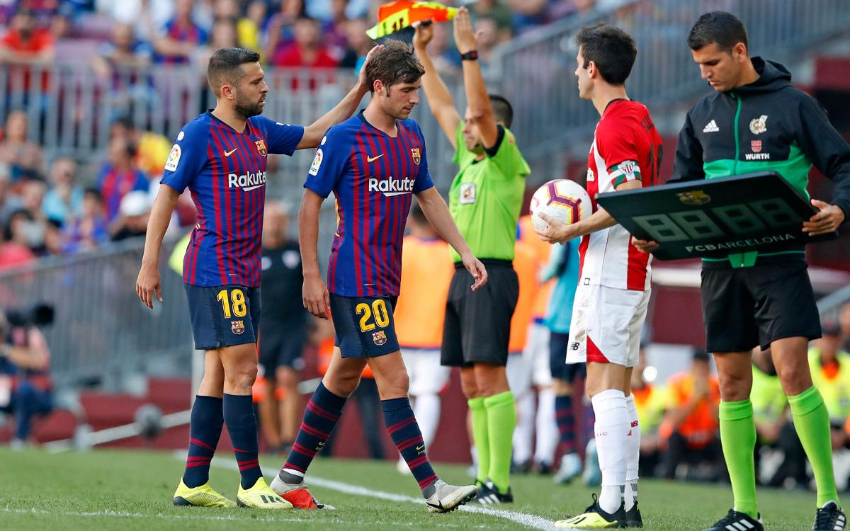 Injured Sergi Roberto to miss at least one game