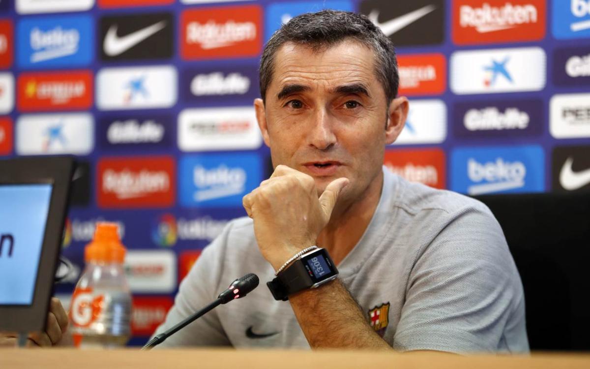 """Ernesto Valverde: """"Serà clau superar la pressió alta de l'Athletic"""""""