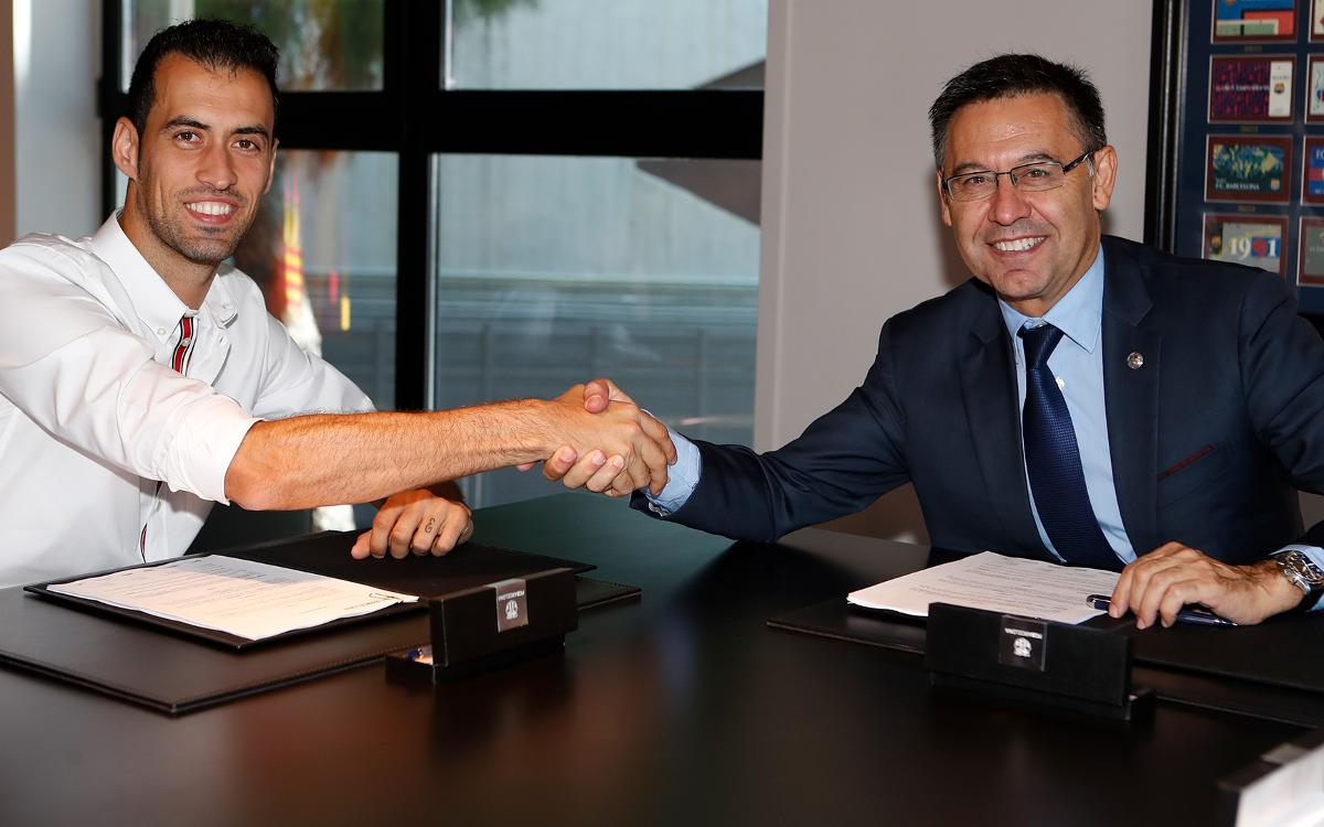 Agreement to renew contract of Sergio Busquets