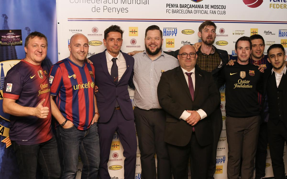Official opening of Penya Barçamania of Moscow