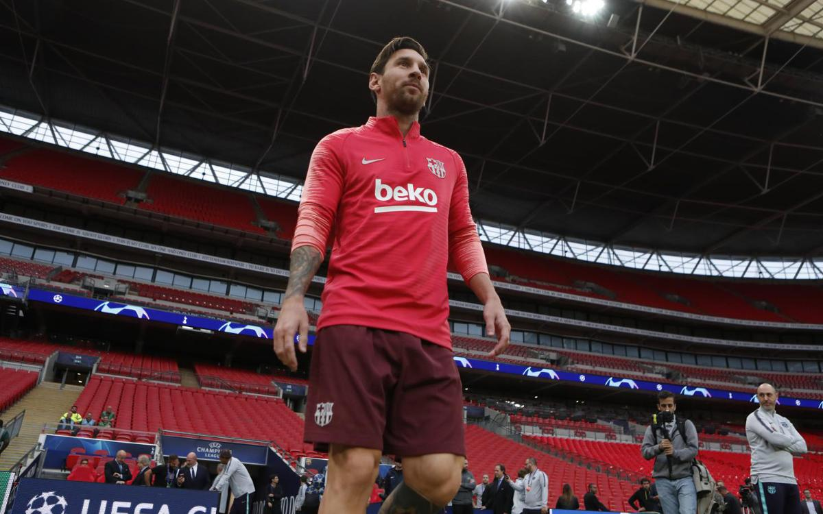 Barça reacquaint themselves with the Wembley pitch