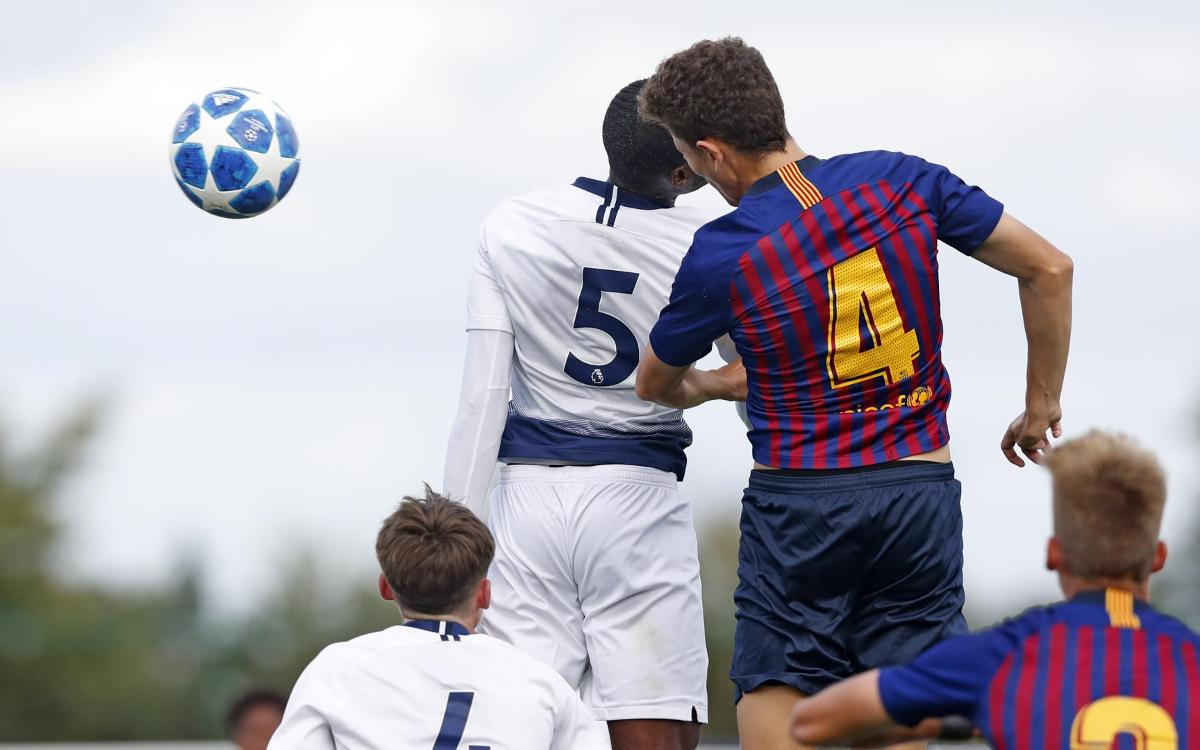 Tottenham Juvenil v Barça U19A: Still top after draw (1-1)