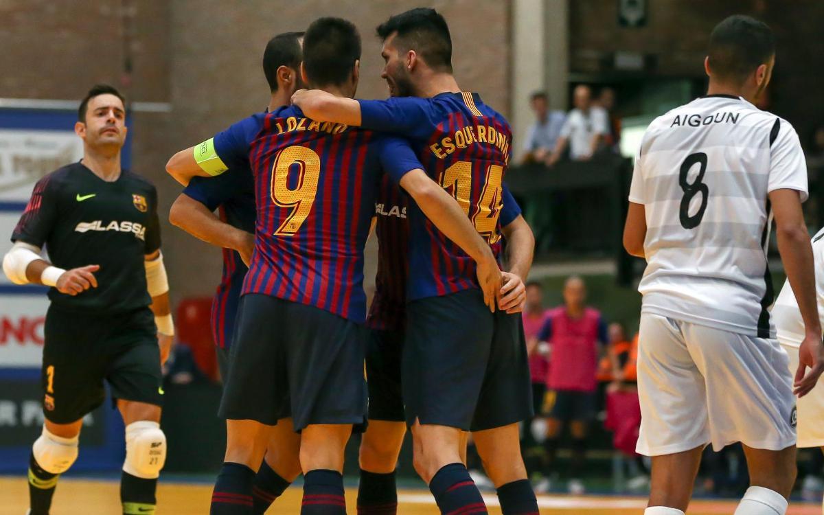 Barça Lassa v Kremlin Bicêtre: Victory on debut at Halle (4-2)