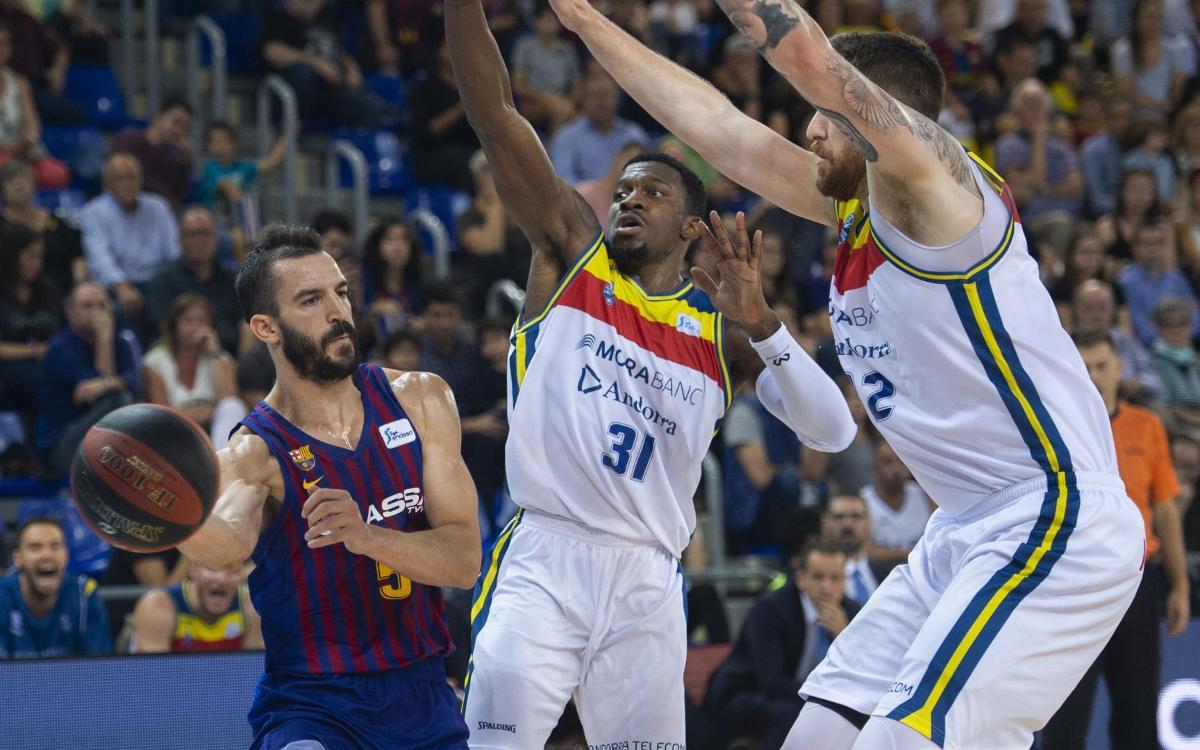 Barça Lassa - MoraBanc Andorra: Se imponen en un duelo decidido en los últimos segundos (67-63)