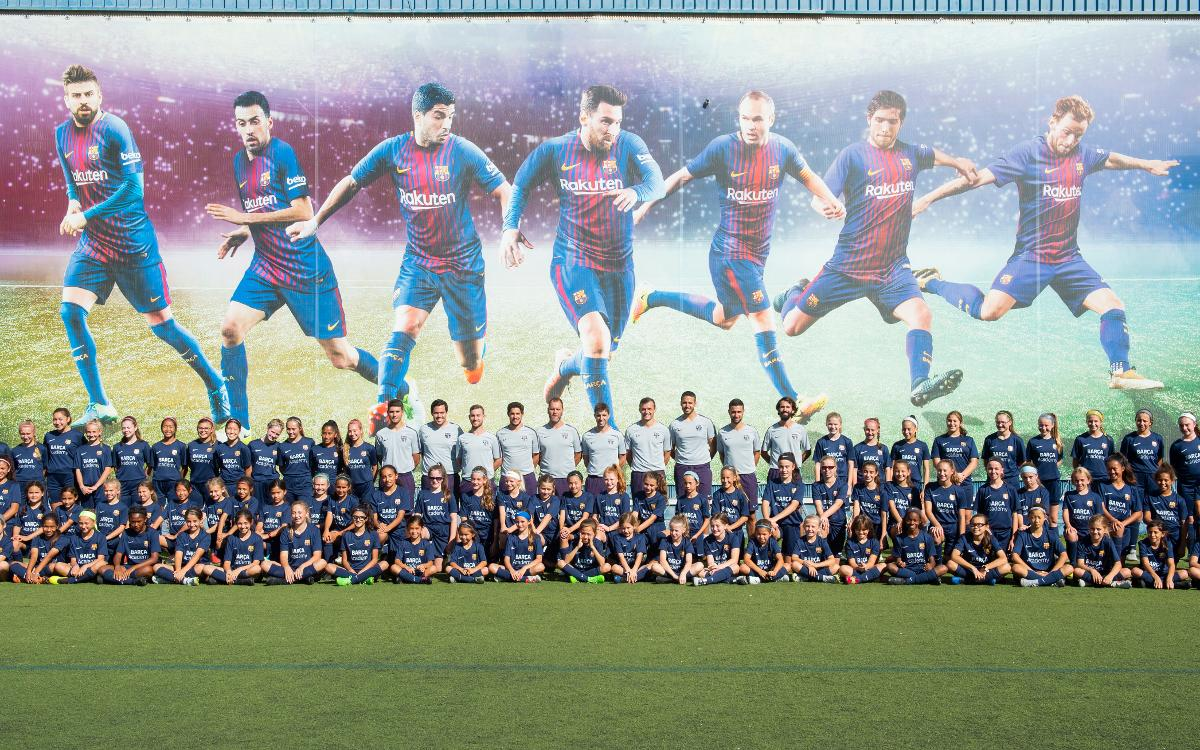 La Barça Academy acoge su primer Clínic únicamente femenino