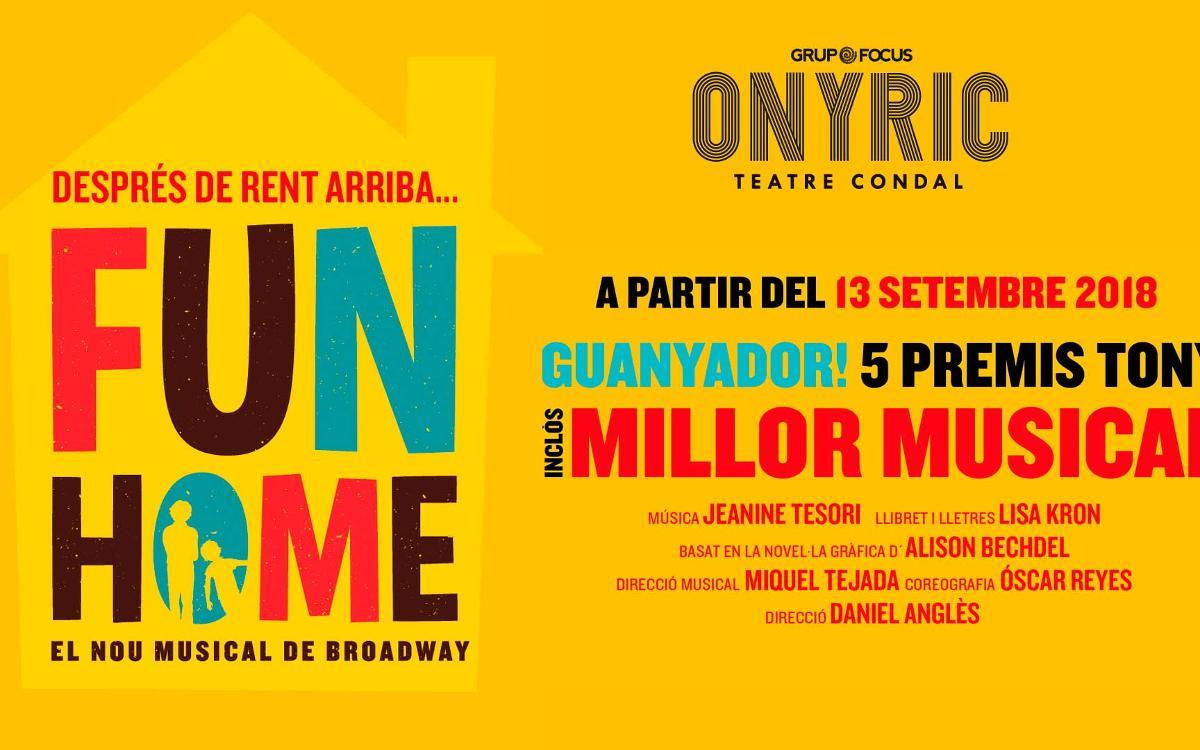 'Fun Home' al Teatre Condal amb descompte exclusiu per als socis
