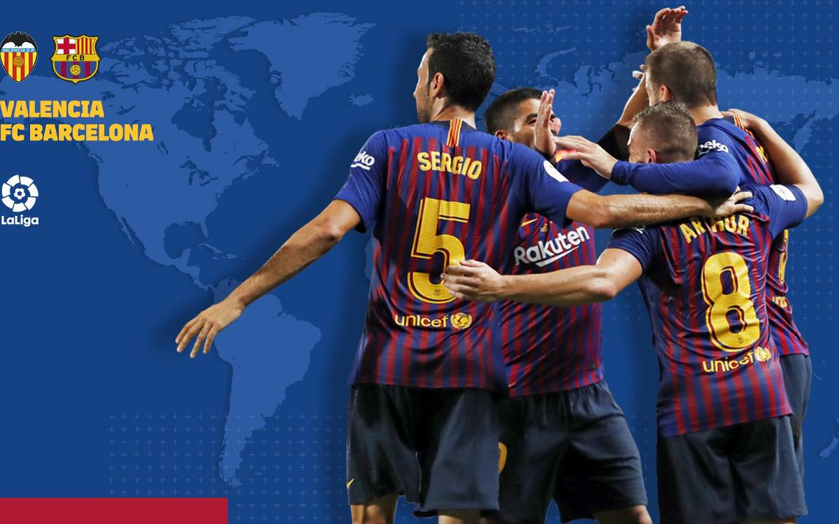Cuándo y dónde ver el Valencia - FC Barcelona