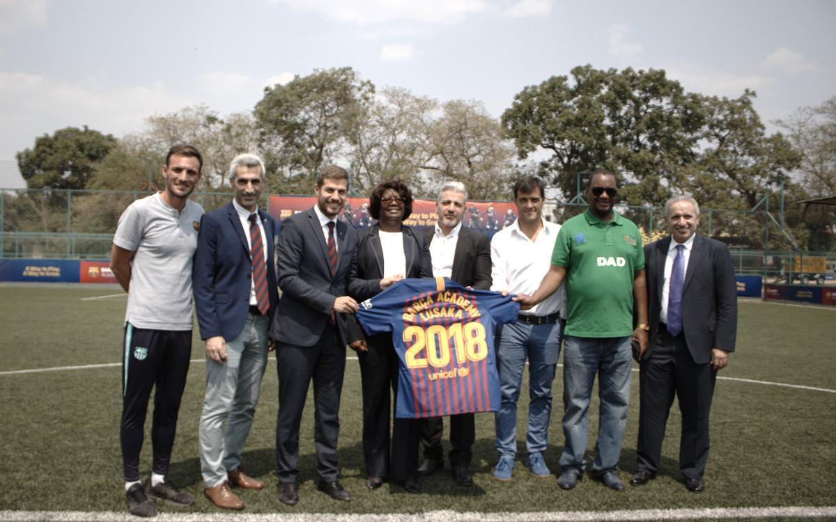 Inauguración por todo lo alto en la Barça Academy Lusaka