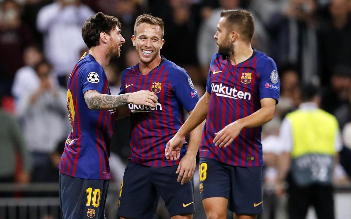 One week since Barça's big win at Wembley over Tottenham
